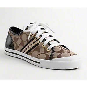 Coach Brown Folly Lace Up Sneaker